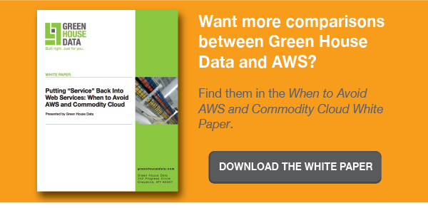 When to Avoid AWS and Commodity Cloud White Paper