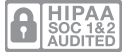 SOC 1 and 2 Type II audited badge